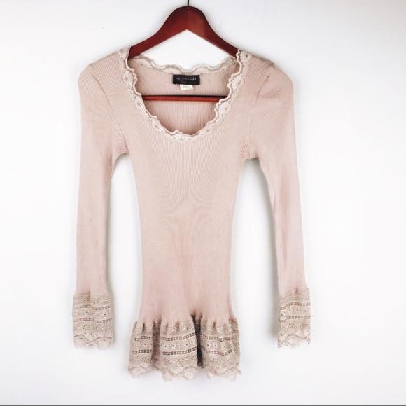 329ba48ac182b0 Rosemunde Copenhagen Silk Shirt Lace Beige Large. M_5b97ac85fe51516ccdad43d9